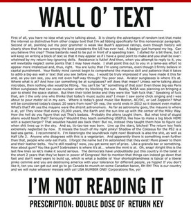 Wall of Text - not a good idea