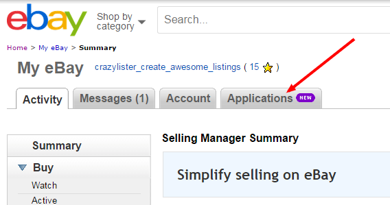 setup listing analytics in your ebay account