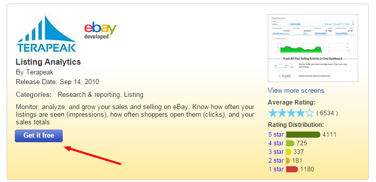 setup listing analytics in your ebay account - step 5