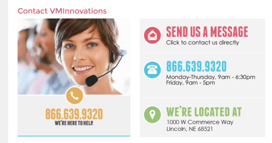 Top ebay seller VM Innovations provides their phone number and address to increase trust