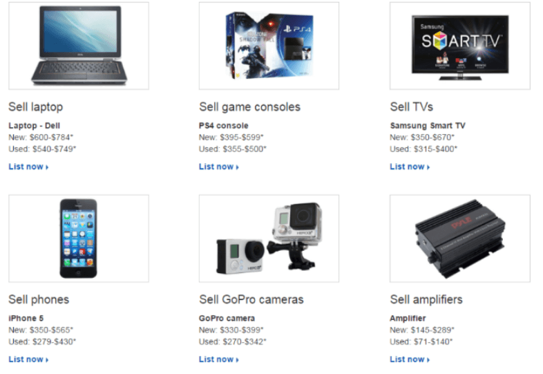 Top selling items on eBay according to ebay's website
