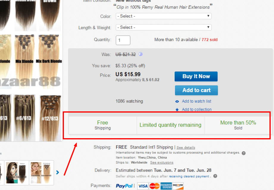why to buy - ebay listing