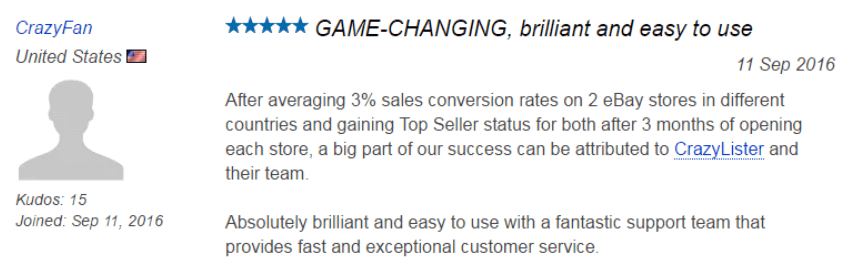 crazylister customer review increasing his conversion rate