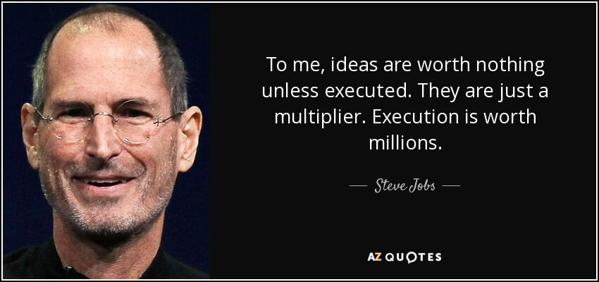 Steve Jobs about execution