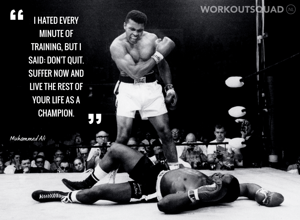 muhammad ali on working hard to succeed