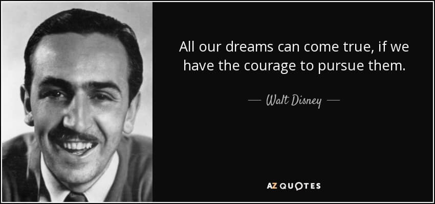 starting an ebay dropshipping business is hard, walt disney quote