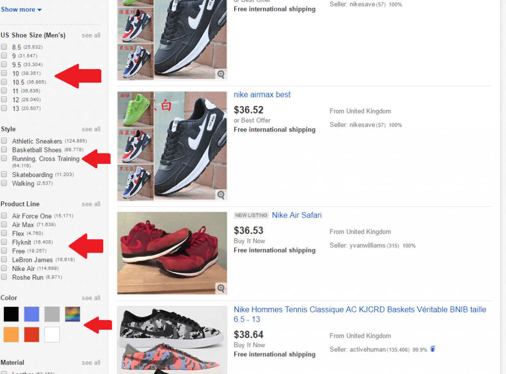 eBay item specifics relevant to ebay seo