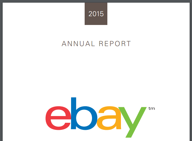 ebay annual report 2015