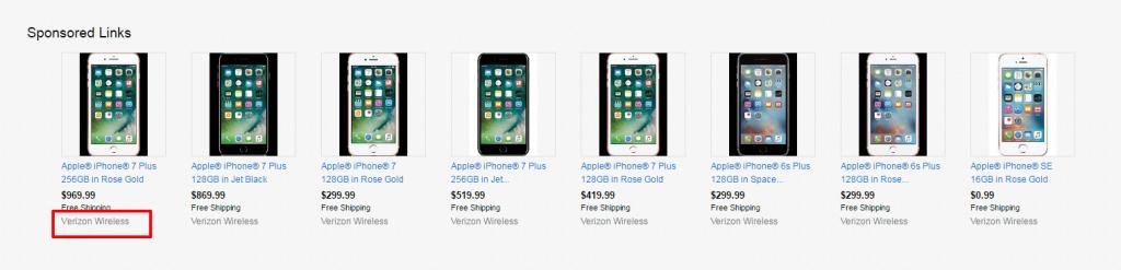 eBay sponsored ads