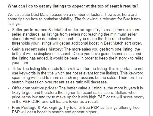 eBay Best Match - FAQs