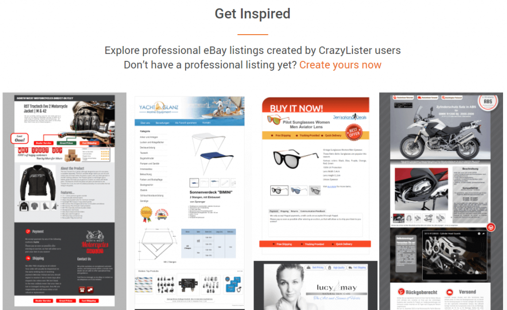 ebay listing tools: crazylister created listings