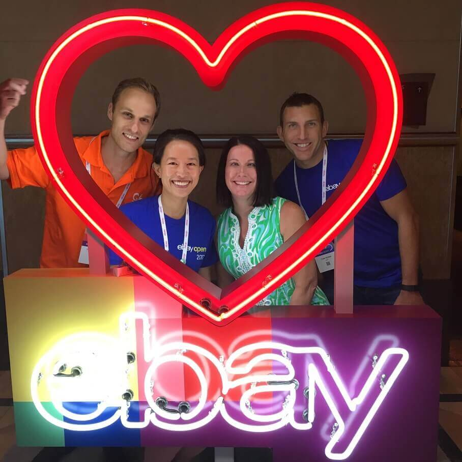 Left to Right: Victor, Cori and the eBay team