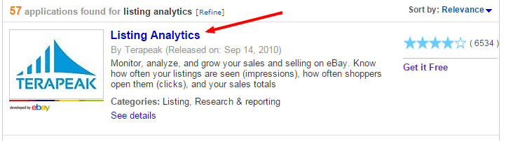 setup listing analytics in your ebay account - step 4