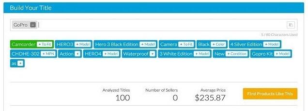 TeraPeak ebay title builder app