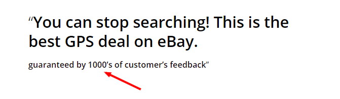 ebay listing description with social proof signal