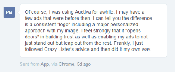 customer feedback in the CrazyLister support