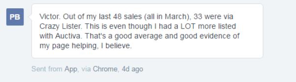 Philip explains his eBay sales breakdown with Crazylister