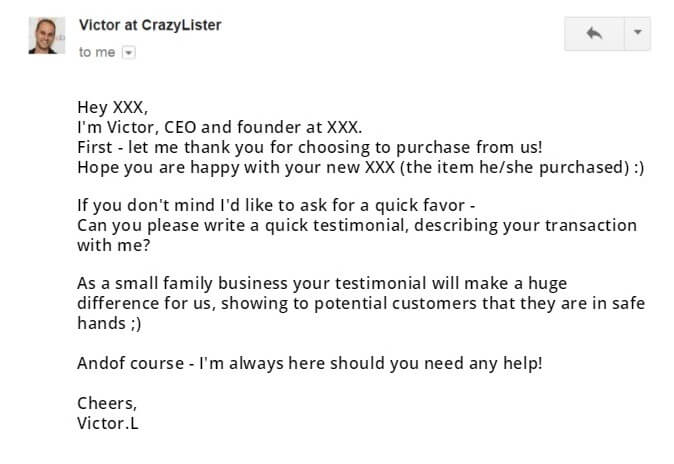 eBay Email Templates to Win testimonials