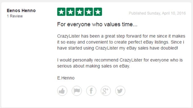 crazylister customer review increase ebay sales