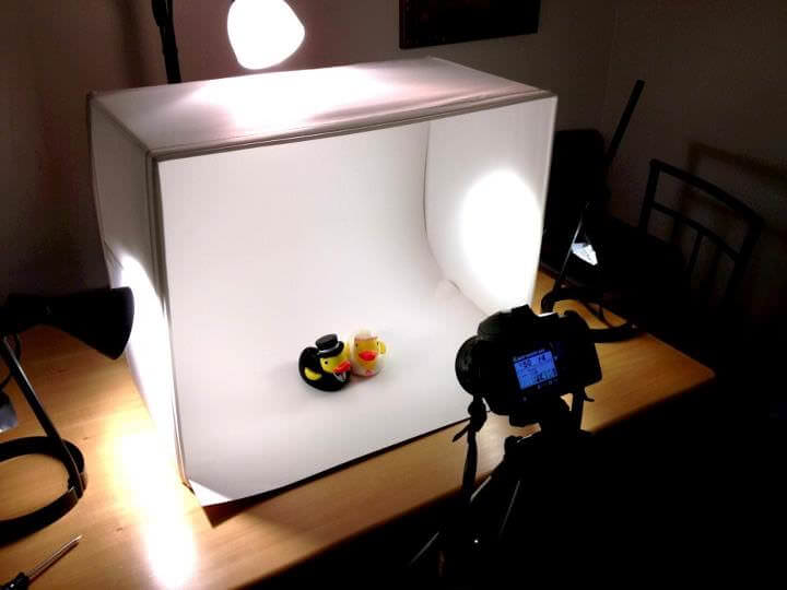 how to take good pictures using lighting box