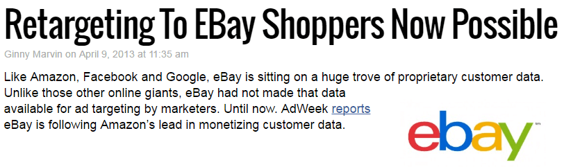 ebay sponsored links are quite new