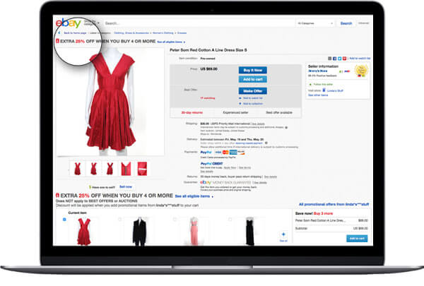 ebay promotions manager example
