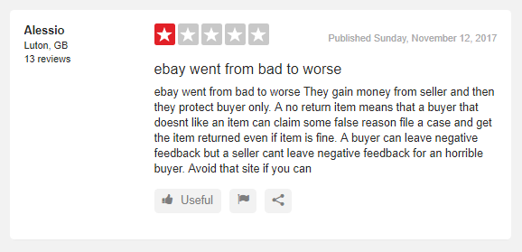 ebay seller review