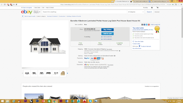 selling a house on eBay