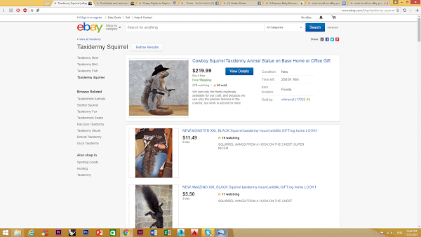 selling wildlife products on ebay