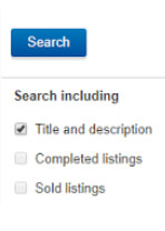 'title and description only' in eBay search