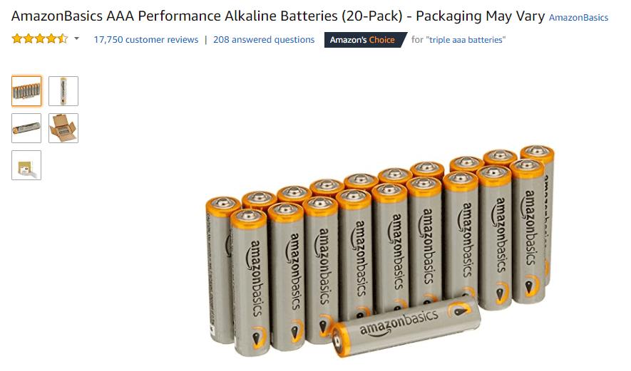 Amazon basics product