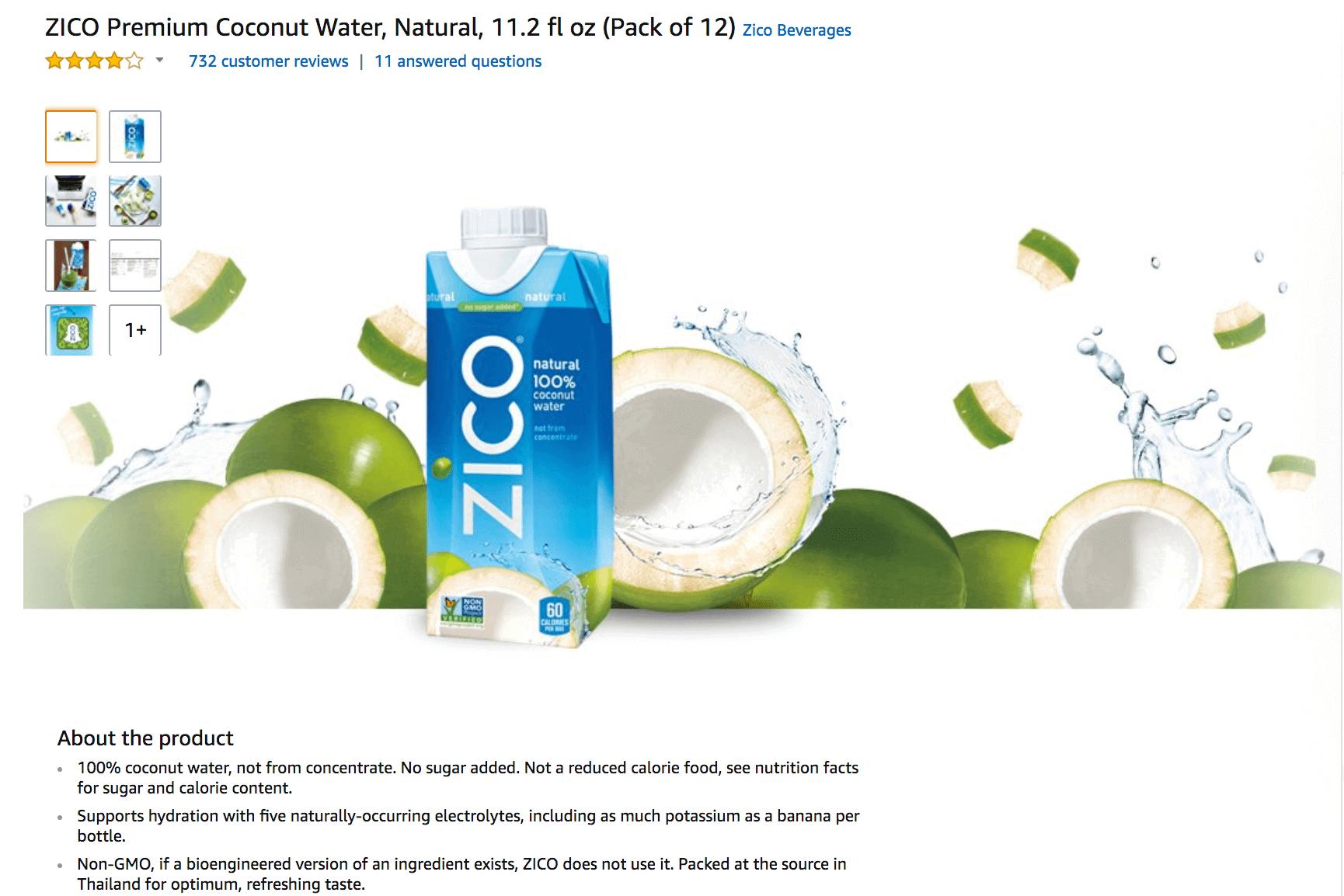 Amazon Brand Content example
