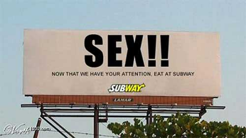 subway sex advert