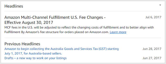 amazon seller central Headlines