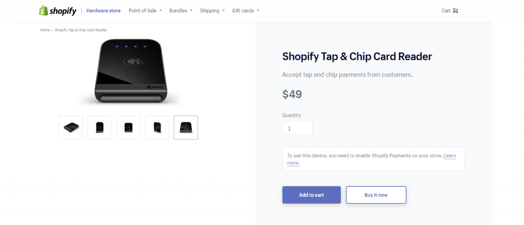 shopify pos card reader