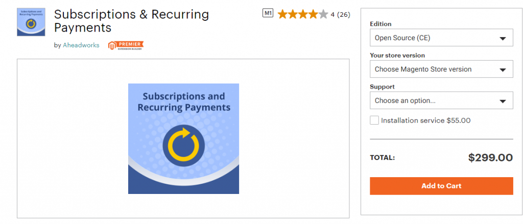 magento recurring Payments