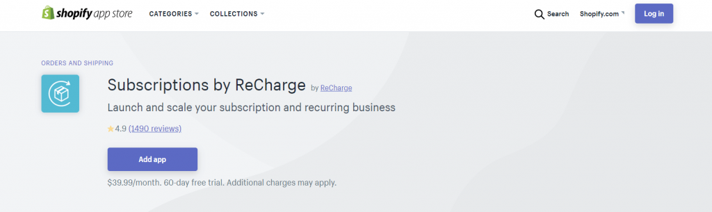 shopify recharge extension